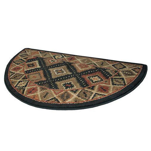 "42"" Half Round Southwest Pattern Hearth Rug"