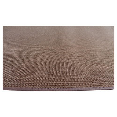 4' Rectangle Brown Guardian Fireplace Rug
