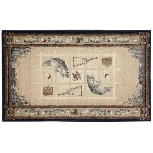 """50"""" High Country The Stream Rectangle Hearth Rug"""