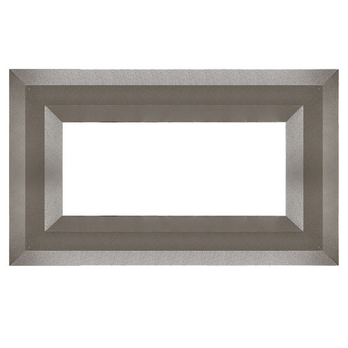Superior Luminary Linear Fireplace Decorative Face Trim - Aged Silver