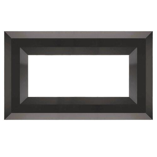 Superior Luminary Linear Fireplace Decorative Face Trim - Black