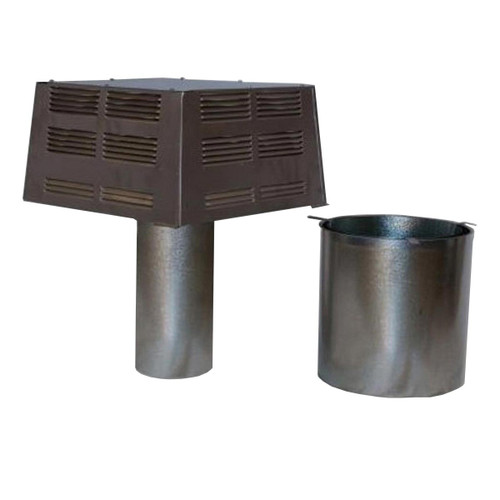 12'' Superior Square Chimney Cap with Slip Connector