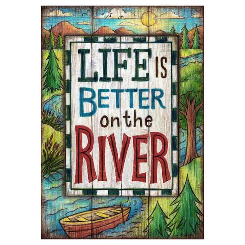 Summer Banner Flag - Better on the River
