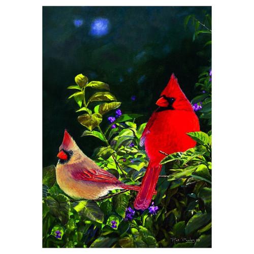 Spring Banner Flag - Cardinal Pair