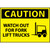 Caution Watch Out For Fork Lift Trucks Graphic 10x14 Plastic Sign