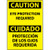 Caution, Eye Protection Required Bilingual, 14x10, Pressure Sensitive Vinyl Sign