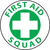 "First Aid Squad, 2"", Pressure Sensitive Vinyl Hard Hat Emblem, Single Sticker"