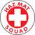 "Haz Mat Squad, 2"", Pressure Sensitive Vinyl Hard Hat Emblem, Single Sticker"