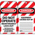 Danger Do Not Operate Maintenance Lock-Out 6x3.25 Unrippable Vinyl Lockout Tags, 10 Per Pack