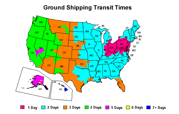 Ground Shipping Map