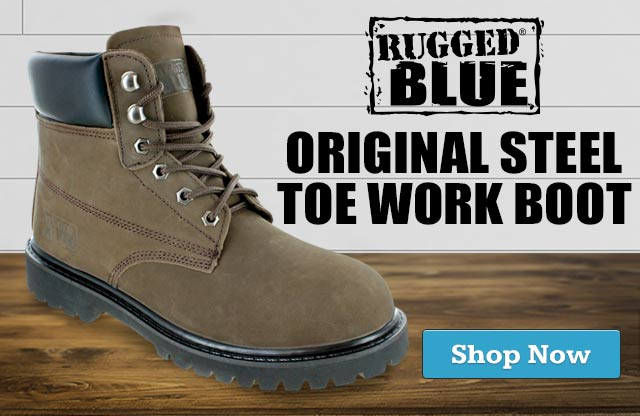 Rugged Blue Work Boots at ConstructionGear.com