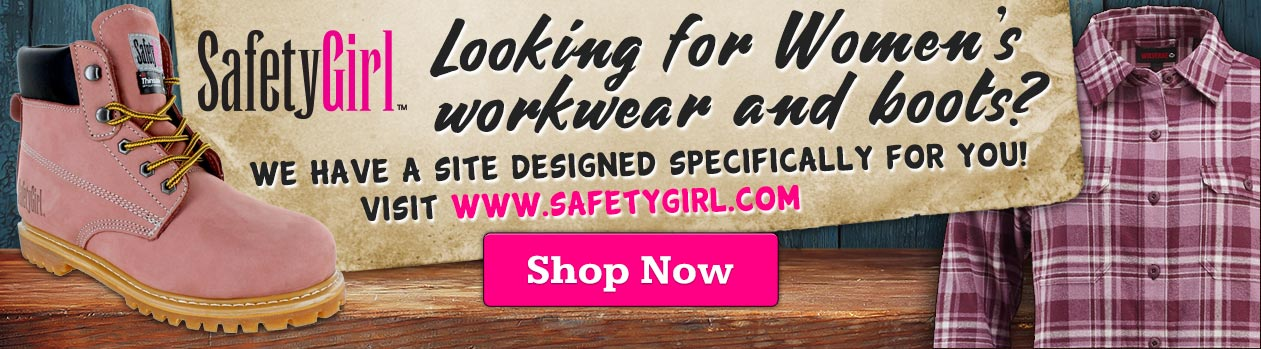 Shop for Women's work boots, clothing, and accessories