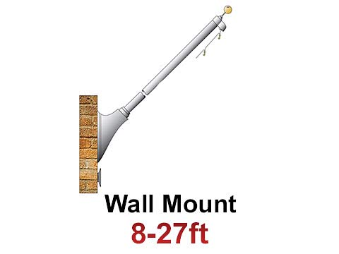 Wall Mount Commercial Flagpoles