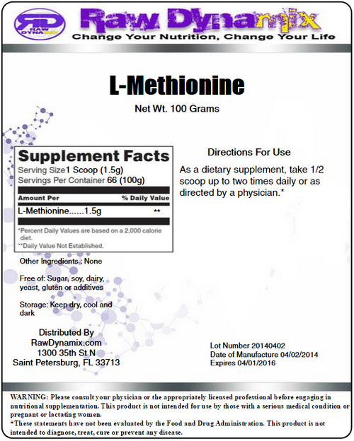 L-Methionine Powder (100 Grams)