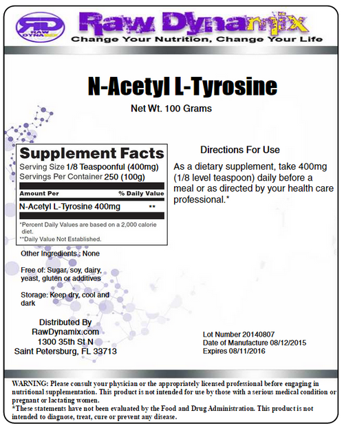 N-Acetyl L-Tyrosine Powder (100 Grams)