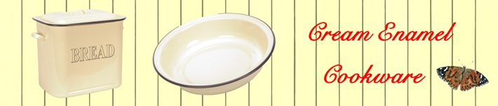 Cream Enamel Cookware by Wares of Knutsford