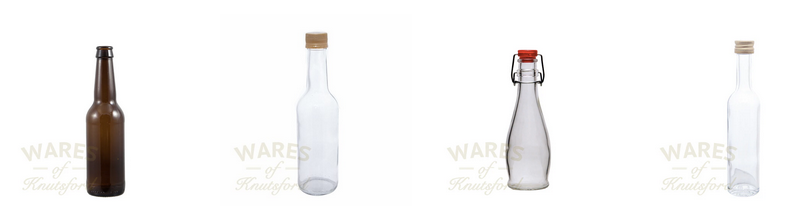 Empty Glass Bottles by Wares of Knutsford