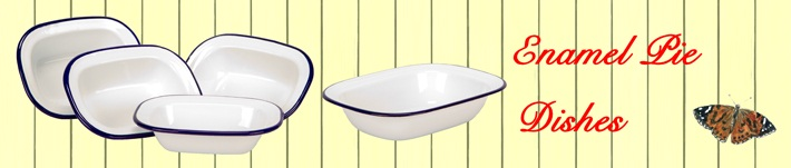 enamel pie dishes and cookware