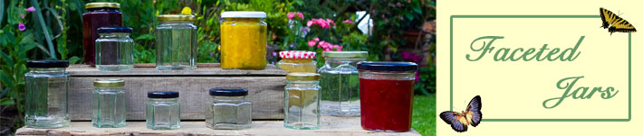 Faceted Jars by Wares of Knutsford
