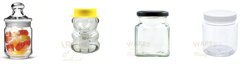 Glass Sweet Jars Range by Wares of Knutsford