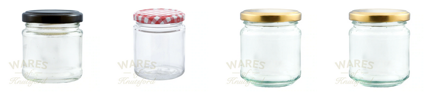 Glass Honey Jars by Wares of Knutsford