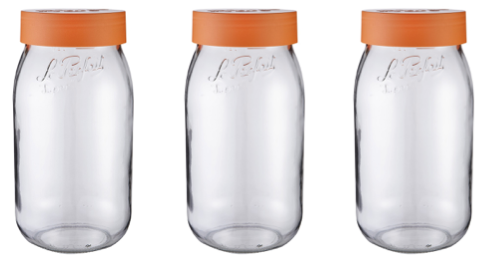 Le Parfait Jars with Screw On Lids