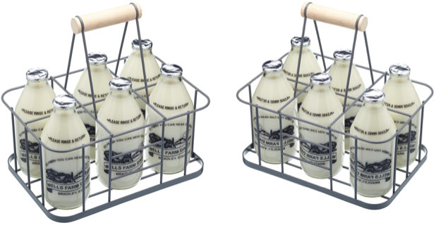 Milk Bottles Holder by Wares of Knutsford