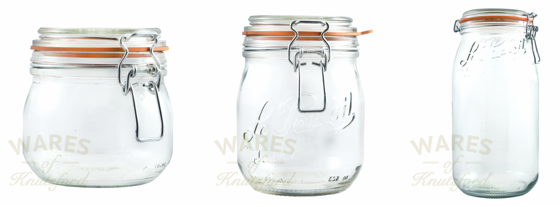 Range of Le Parfait Jars by Wares of Knutsford