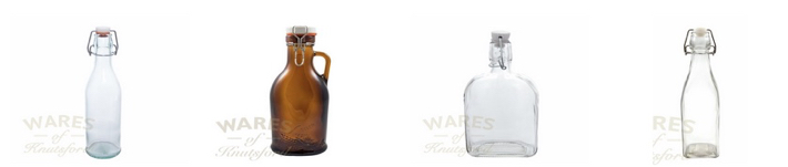 Swing Stopper Glass Bottles by Wares of Knutsford