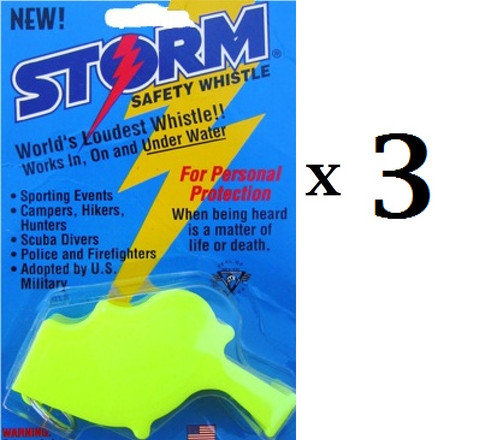 Yellow  Storm  Loudest Whistle in World 3 pack