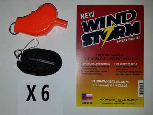 """Whistle is approximately 2.5"""" x .75"""", .4 oz."""