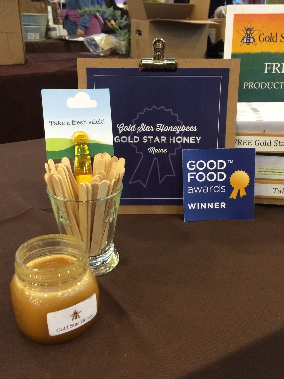 Award winning Gold Star Honey - comes from clean and natural Gold Star top bar hives.