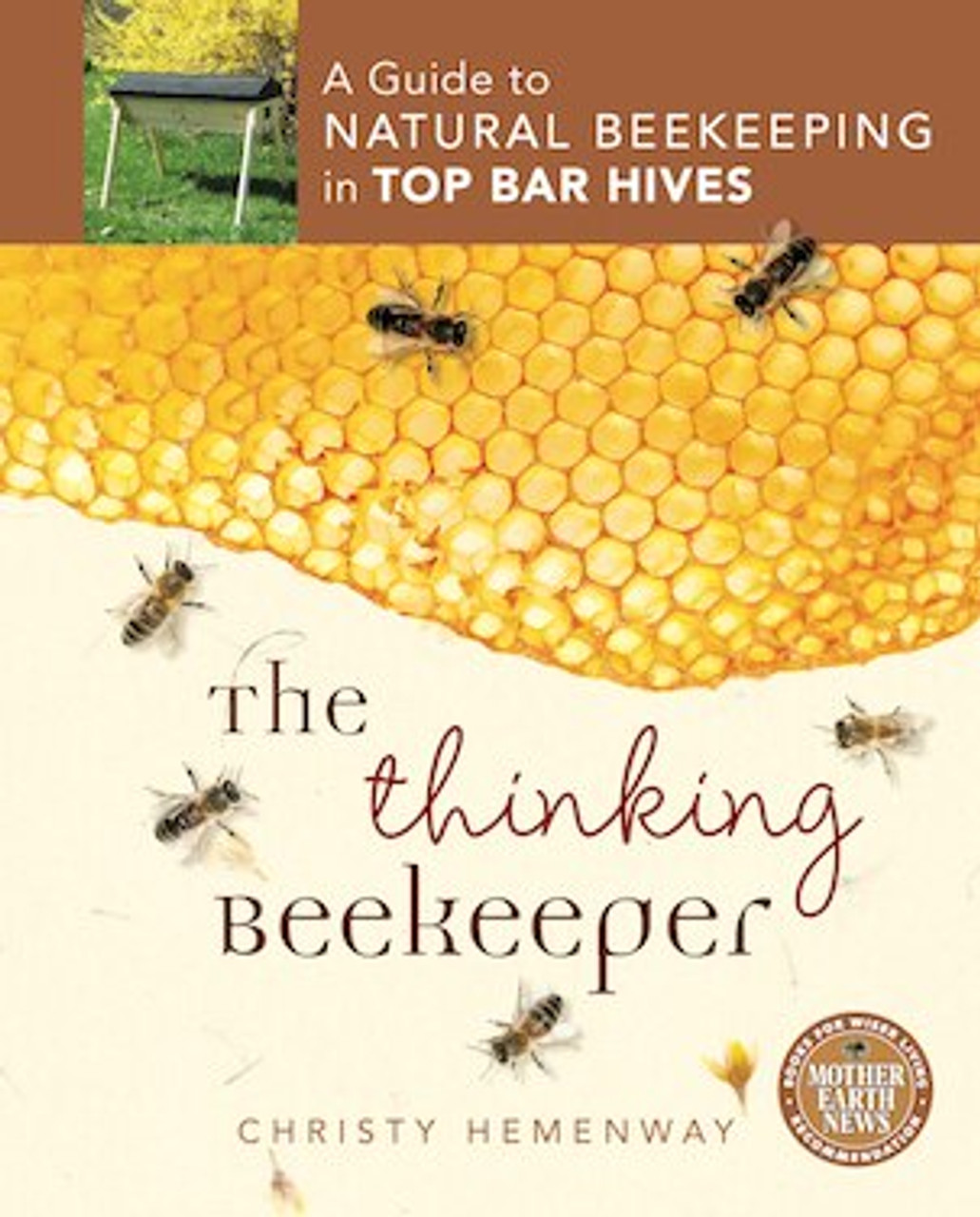 The Thinking Beekeeper - A Guide to Natural Beekeeping in Top Bar Hives is the definitive do-it-yourself guide to natural beekeeping in top bar hives. Based on supporting the bees' natural systems, as opposed to trying to subvert them, the advantages of this approach include:     - simplicity and sustainability     - better ergonomics due to less heavy lifting        - chemical-free colonies and natural beeswax  The book has many photos and detailed diagrams of hive management steps throughout the season, as well as a blank master diagram for you to copy and use to record your hive's progress.