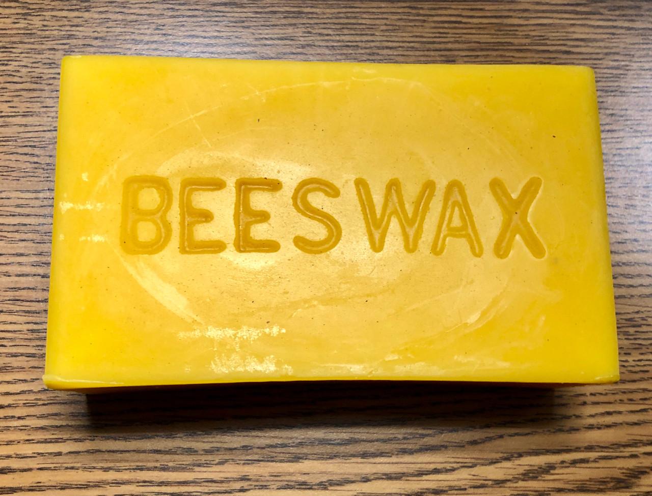 Roughly one pound of untreated natural beeswax