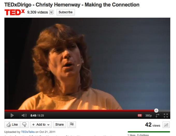 Christy Hemenway, TEDxDirigo