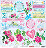 Fancy Cloth - Floral Embroidery Collection. 12x 12 ( Double sided)