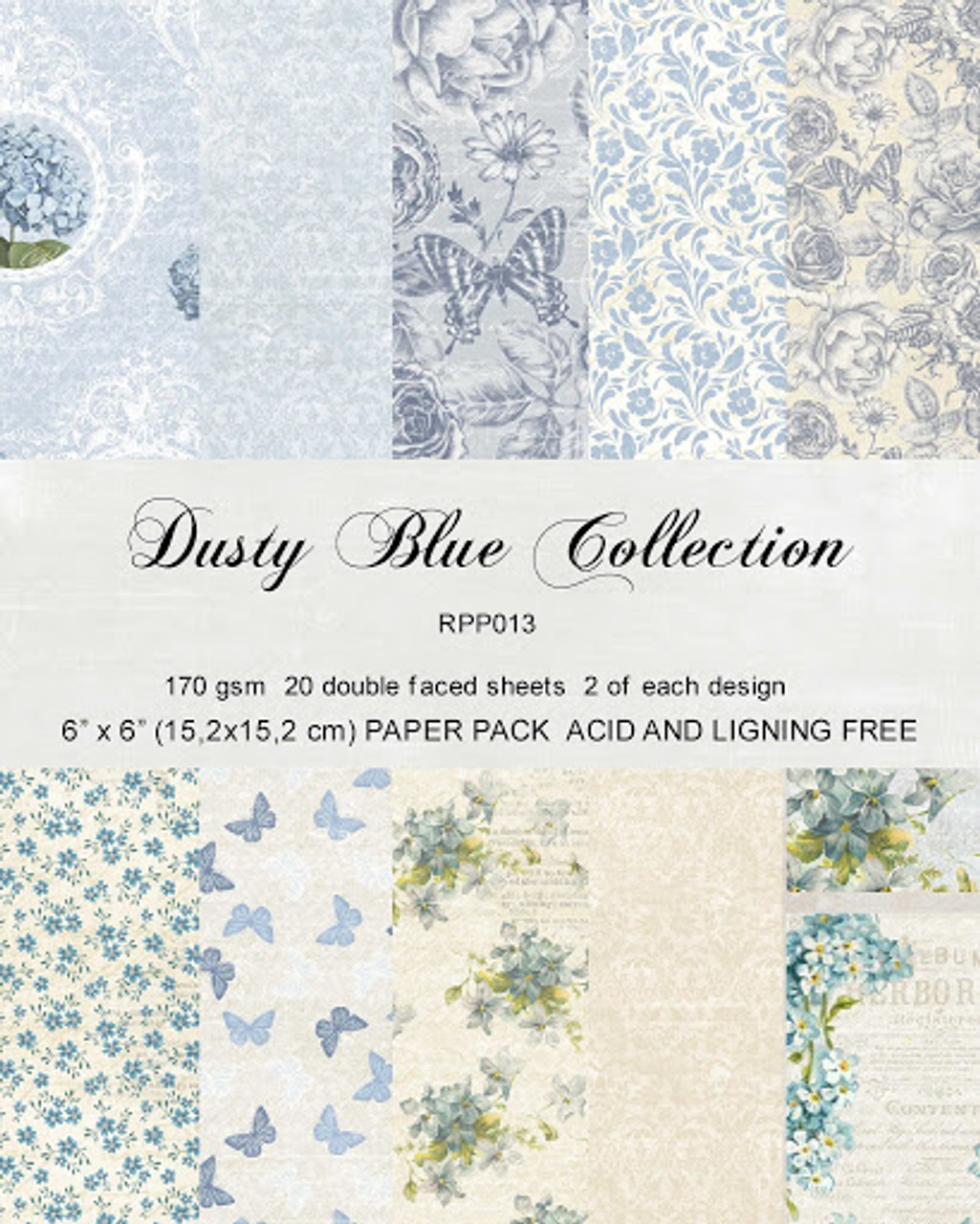 Reprint Dusty Blue 6x6 Inch Collection Pack Rpp013