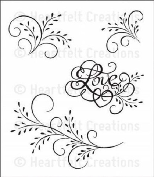 Heartfelt Creations - Feather Grass Flourish - HCPC3435