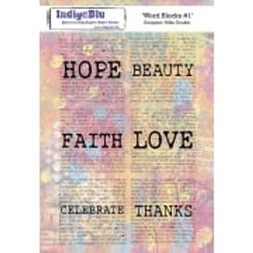 Indigo Blu Word Blocks #1