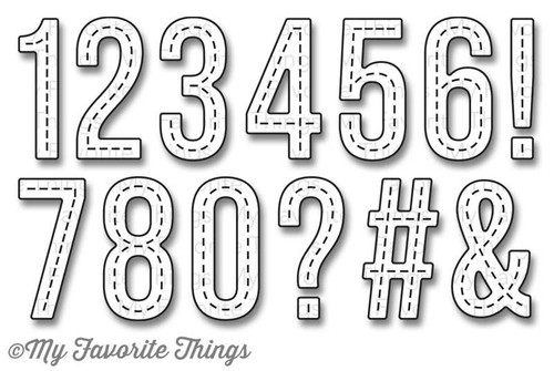 My Favorite Things - Stitched Numbers - Die-Namics