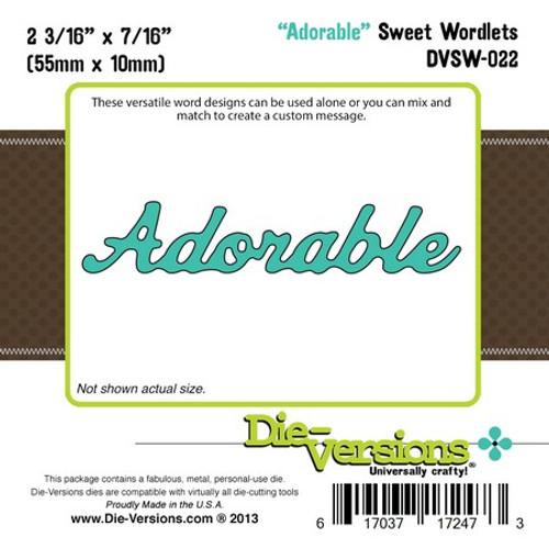 Die-Versions - ADORABLE - Sweet Wordlets - Cutting Die