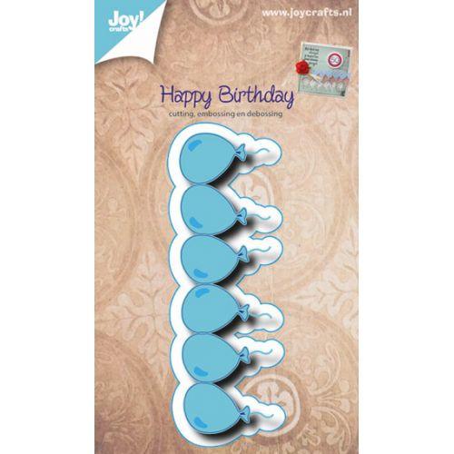 Joy!Crafts - Embossing Stencil - Birthday Balloons