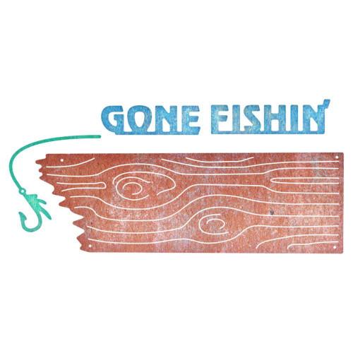 Cheery Lynn - Embossing Stencil - Old Barn Board - Gone Fishing 3pcs
