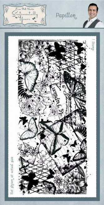 Creative Expressions - Papillon Rubber Stamp