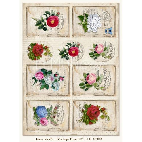 Lemoncraft - One-sided scrapbooking paper - Vintage Time 002