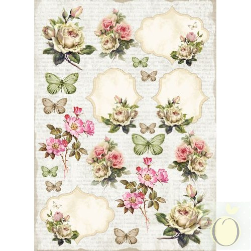 Lemoncraft - One-sided scrapbooking paper - House of Roses - Labels 2