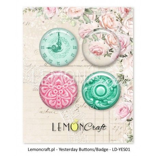Lemoncraft - Yesterday Buttons / Badges