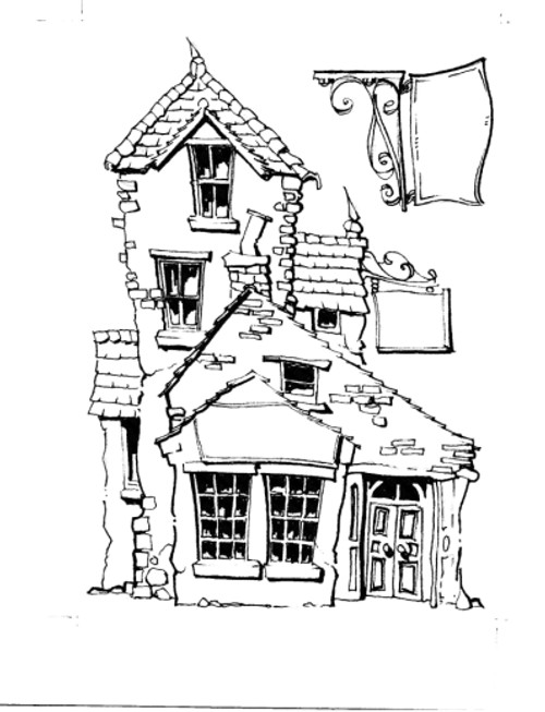Picture This - A6 Stamps 005 - Ye Olde Shoppe