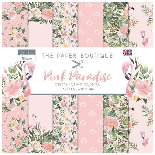 The Paper Boutique  Pink Paradise 12x12 Paper Pad 160gsm