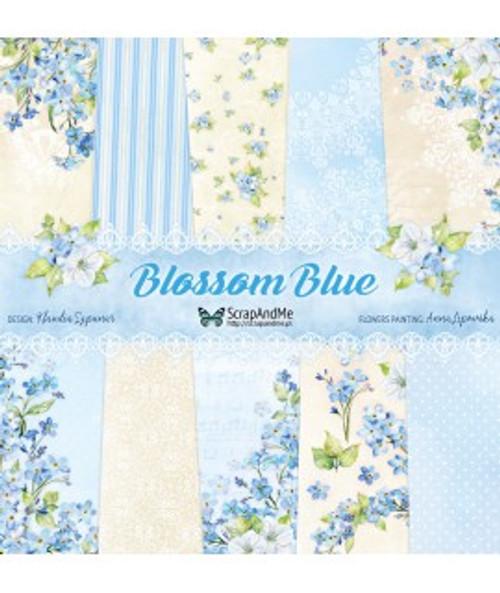 ScrapAndMe - Blossom Blue- 12x12 Paper Set
